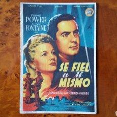 Cine: PROGRAMA DE MANO. CINE. SE FIEL A TI MISMO (ORIGINAL) 1942 - PERFECTO.. Lote 151594100