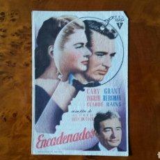 Cine: PROGRAMA DE MANO. CINE. ENCADENADOS (ORIGINAL) 1949 - PERFECTO.. Lote 151594890
