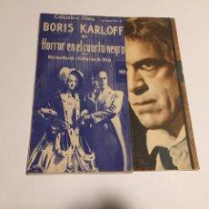 Cine: HORROR EN EL CUARTO OSCURO. CON BORIS KARLOFF Y MARIÁN MARSH. 1936. Lote 151655800