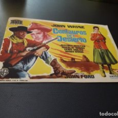 Cine: PROGRAMA DE MANO ORIG - CENTAUROS DEL DESIERTO - CINE TEATRO CEREZO ¿CARMONA?. Lote 151656602
