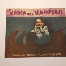 Cine: LA MARCA DEL VAMPIRO CON LIONEL BARRIMORE Y BELA LUGOSI. AÑOS 30. Lote 151662265