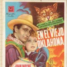 Cine: FOLLETO DE MANO EN EL VIEJO OKLAHOMA.. Lote 151664774