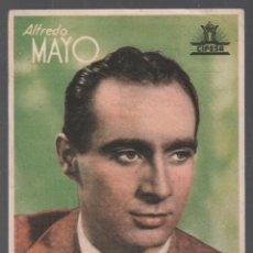 Flyers Publicitaires de films Anciens: ALFREDO MAYO - PROGRAMA SENCILLO DE CIFESA CON PUBLICIDAD AL DORSO, RF-727 ,BUEN ESTADO. Lote 151678162