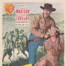 Cine: LA CARGA DE LOS JINETES INDIOS CON GUY MADISON, FRANK LOVEJOY AÑO 1954 EN CINEMA LA RAMBLA. Lote 151689950