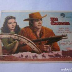 Cine: PROGRAMA DE CINE - KIT CARSON - JOHN HALL, DANA ANDREWS - CINE ECHEGARAY (MÁLAGA) - 1940.. Lote 151709494