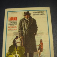 Cine: LA DUDA , FERNADO REY - CINE UNION , MASNOU. Lote 151720322