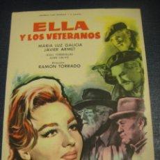 Cine: ELLA Y LOS VETERANOS - SIN PUBLICIDAD. Lote 151720466