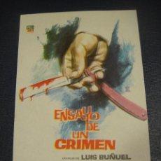 Cine: ENSAYO DE UN CRIMEN - SIN PUBLICIDAD. Lote 151721198