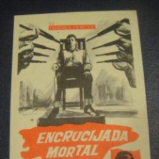 Cine: ENCRUCIJADA MORTAL - SIN PUBLICIDAD. Lote 151721354