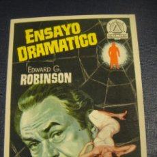 Cine: ENSAYO DRAMATICO - CINE COSO , ZARAGOZA. Lote 151721550