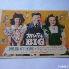 Cine: PROGRAMA DE CINE - MISTER BIG - DONALD O'CONNOR - GRAN TEATRO ISABEL LA CATÓLICA (GRANADA) - 1943.. Lote 151734298