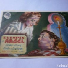 Cine: PROGRAMA DE CINE - LA ESPIA DE ARGEL - JAMES MASON, CARLA LEHMANN - CINE ECHEGARAY (MÁLAGA) - 1944.. Lote 151736078