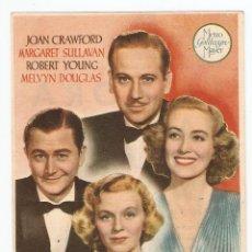 Cine: LA HORA RADIANTE - JOAN CRAWFORD, MARGARET SULLAVAN, ROBERT YOUNG, MELVYN DOUGLAS - MGM. Lote 151751590