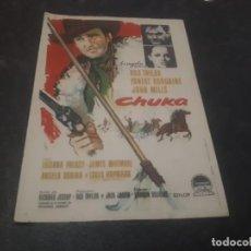 Cine: PROGRAMA DE MANO ORIG - CHUKA - CINE DE ALBORAYA. Lote 151826166