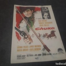 Cine: PROGRAMA DE MANO ORIG - CHUKA - CINE DE TARRAGONA. Lote 151826354