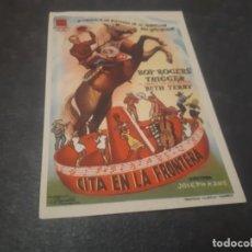 Cine: PROGRAMA DE MANO ORIG - CITA EN LA FRONTERA - CINE TEATRO CEREZO ¿CARMONA? . Lote 151828298