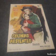 Cine: PROGRAMA DE MANO ORIG - COLINAS ARDIENTES - CINE DE TARREGA . Lote 151829046