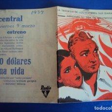 Cine: (PG-190395) 50 $ DE UNA VIDA - CENTRAL - AÑO 1934. Lote 151841606