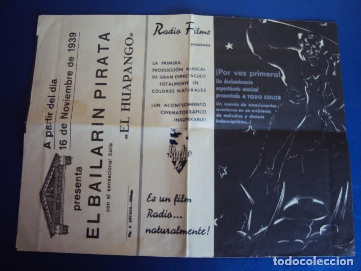 Kino: (PG-190391) EL BAILARIN PIRATA - CINE ECHEGARAY - AÑO 1939 - Foto 2 - 151844374