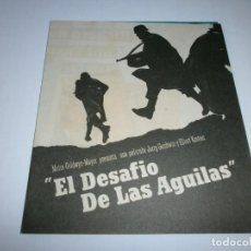 Cine: PROGRAMA DOBLE - EL DESAFÍO DE LAS ÁGUILAS - RICHARD BURTON, CLINT EASTWOOD - CINE ALBÉNIZ (MÁLAGA) . Lote 151862914