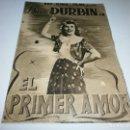 Cine: PROGRAMA DOBLE - EL PRIMER AMOR - DIANA DURBIN - COLISEO OLYMPIA - 1939.. Lote 151870854