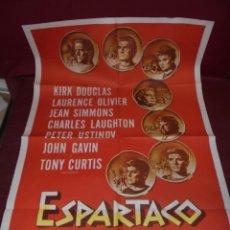 Cine: MAGNIFICO CARTEL DE CINE ORIGINAL DE EPOCA,ESPARTACO,SALIDA 1 EURO. Lote 151913990