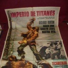 Cine: MAGNIFICO CARTEL DE CINE ORIGINAL DE EPOCA,IMPERIO DE TITANES,SALIDA 1 EURO. Lote 151921142