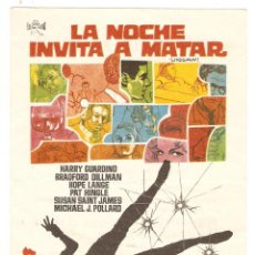 Cine: LA NOCHE INVITA A MATAR - HARRY GUARDINO, BRADFORD DILLMAN - DIRECTOR JAMES GOLDSTONE - JANO. Lote 151929510