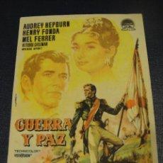 Cine: GUERRA Y PAZ - CINE SALON ROSA. Lote 151973078