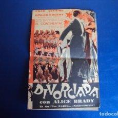 Cine: (PG-190367) DIVORCIADA - IDEAL - AÑO 1935. Lote 152008770