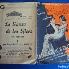 Cine: (PG-190361) LA DANZA DE LOS RICOS - CINE ECHEGARAY - AÑO 1936. Lote 152010490