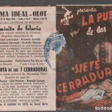 Cine: LA PUERTA DE LAS SIETE CERRADURAS - PROGRAMA DOBLE CON PUBLICIDAD, RF-850. Lote 152099558