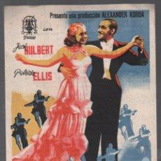 Cine: PARAISO PARA DOS - PROGRAMA SENCILLO GRANDE DE PROCINES CON PUBLICIDAD , RF-911. Lote 152109894