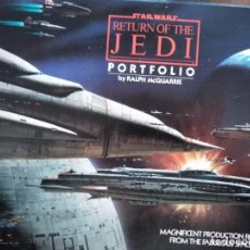 Cine: STAR WARS.RETURN OF THE JEDI. RALPH MCQUARRIE PORTFOLIO.20 LAMINAS.. Lote 152148538