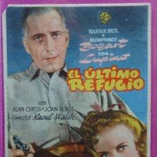Cine: EL ULTIMO REFUGIOS - FOLLETO DE MANO - - CON INFORMACION. Lote 152231430