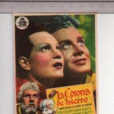 Cine: FOLLETO DE MANO DE LA CORONA DE HIERRO CON ELISA CEGANI PUBLICIDAD CINE VICTORIA. Lote 152276606