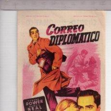 Cine: FOLLETO DE MANO DE CORREO DIPLOMÁTICO CON TYRONE POWER PUBLICIDAD FÉMINA T RAMBLA 1952. Lote 152276990
