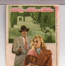 Cine: FOLLETO DE MANO DE POLICÍA INTERNACIONAL CON VICTO MATURE PUBLICIDAD CINE PALACIO VALLS 1958. Lote 152301858