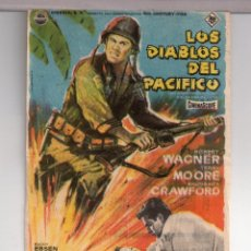 Cine: FOLLETO DE MANO DE LOS DIABLOS DEL PACIFICO CON ROBERT WAGNER PUBLICIDAD CINE MONTERROSA REUS. Lote 152302378