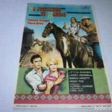 Flyers Publicitaires de films Anciens: PROGRAMA DE CINE - EL JUSTICIERO DE KANSAS - STEWART GRANGER - 1966- SIN PUBLICIDAD.. Lote 152405442