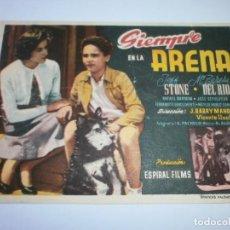 Cine: PROGRAMA DE CINE - SIEMPRE EN LA ARENA - Mº TERESA DEL RÍO, JEFF STONE - 1960 - SIN PUBLICIDAD.. Lote 152419170