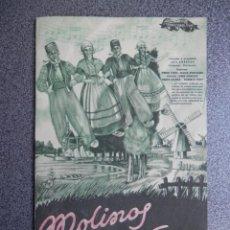 Cine: PROGRAMA CINE DOBLE: MOLINOS DE VIENTO - PUBLICIDAD CINE EN INTERIOR PROGRAMA. Lote 152438926
