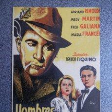 Cine: PROGRAMA CINE DOBLE: HOMBRES SIN HONOR - PUBLICIDAD CINE. Lote 152439242