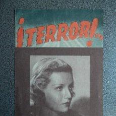 Cine: PROGRAMA CINE DOBLE: ¡TERROR! - LAURA SOLARI - PUBLICIDAD CINE. Lote 152441394
