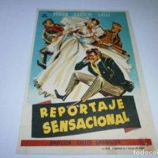 Cine: PROGRAMA DE CINE - REPORTAJE SENSACIONAL - FRANCOIS PERIER, ANNE VERNON - 1953 - SIN PUBLICIDAD.. Lote 152446334