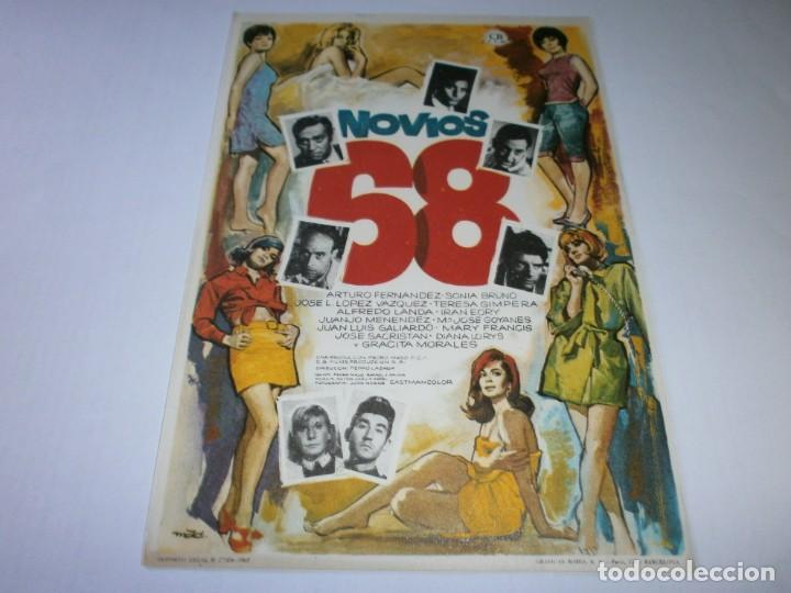 PROGRAMA DE CINE - NOVIOS 68 - ARTURO FERNÁNDEZ, ALFREDO LANDA - 1967 - SIN PUBLICIDAD. (Cine - Folletos de Mano - Comedia)