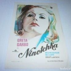 Cine: PROGRAMA DE CINE - NINOTCHKA - GRETA GARBO - 1939 - SIN PUBLICIDAD.. Lote 152450682