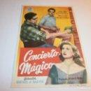 Cine: PROGRAMA DE CINE - CONCIERTO MÁGICO - JOSÉ Mª RODERO, MERCEDES MONTERREY - PRINCIPAL CINEMA (MÁLAGA). Lote 152466246