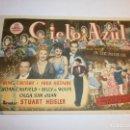 Cine: PROGRAMA DE CINE - CIELO AZUL - BING CROSBY, FRED ASTAIRE - GRAN ALBÉNIZ (MÁLAGA) - 1946.. Lote 152469890