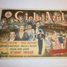 Flyers Publicitaires de films Anciens: PROGRAMA DE CINE - CIELO AZUL - BING CROSBY, FRED ASTAIRE - GRAN ALBÉNIZ (MÁLAGA) - 1946.. Lote 152469890